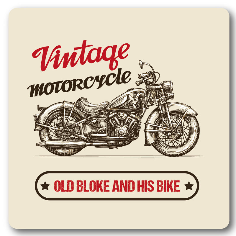 Vintage Motorcycle,Metal Wall Sign