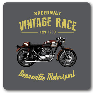 Speedway Vintage, Bonnerville Motorcycle,Metal Wall Sign