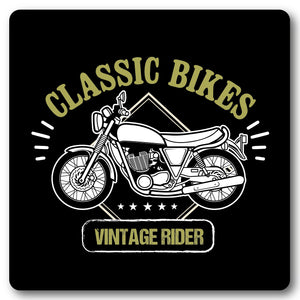 Classic Bikes, Vintage Rider Motorcycle, Metal Wall Sign