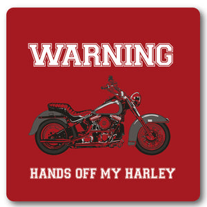 Warning, Hands off my Harley, Metal Wall Sign
