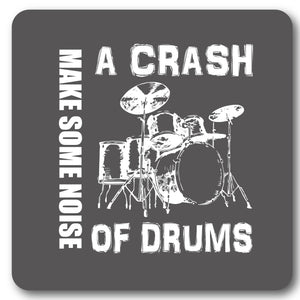 A Crash of Drums Music coaster