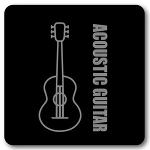 Acoustic Guitar Music coaster