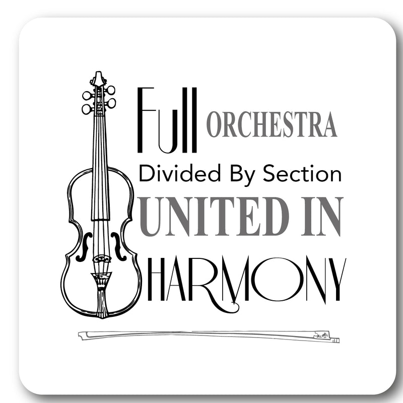 Full Orchestra Music coaster