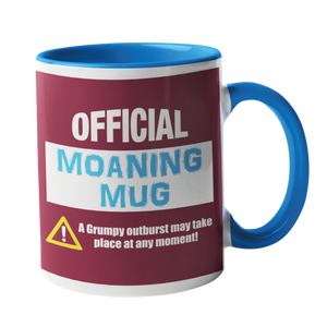 Official Moaning Mug in West Ham Colours