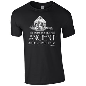 My Body is a Temple, Ancient and Crumbling, Humour T-shirt