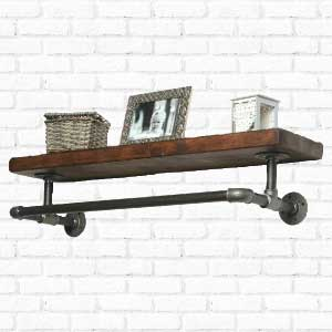 Industrial Chunky Shelf with Scaffold Hanging Rail