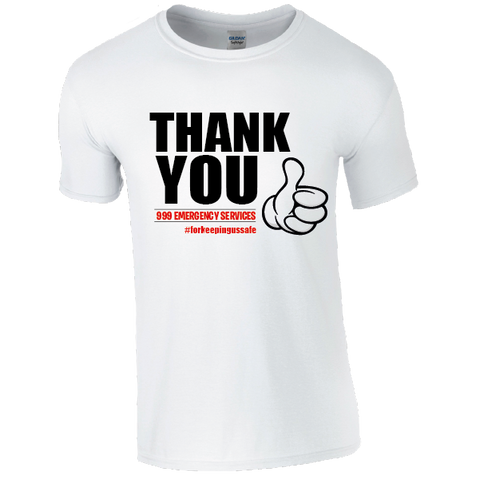 Thank you 999 Emergency Services T-Shirt
