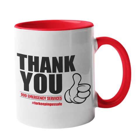 999 Emergency Services Thank you Mug