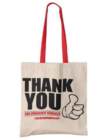 999 Emergency Services Thank You Tote Bag