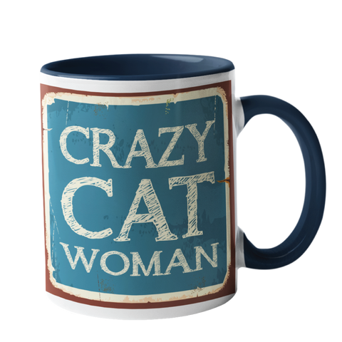 Crazy Cat Woman Humour Mug