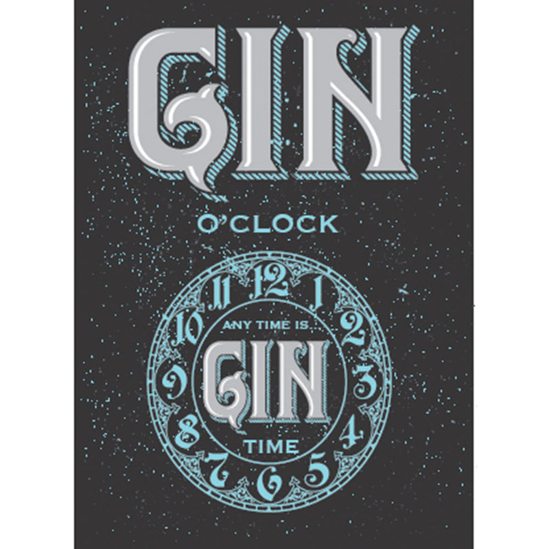 Gin Time A3 Metal Sign