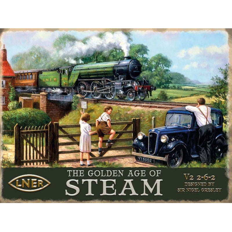 Golden Age of Steam A3 Metal Sign