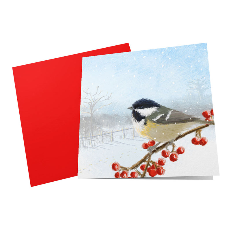 Great Tit Christmas Card