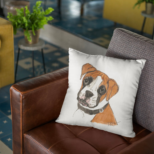 Tan Boxer Cushion