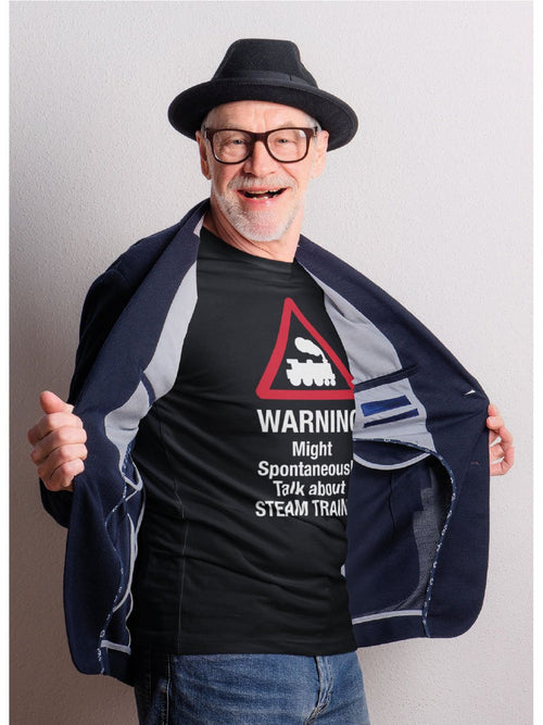 Warning Might Spontaneously Talk About Trains T-Shirt