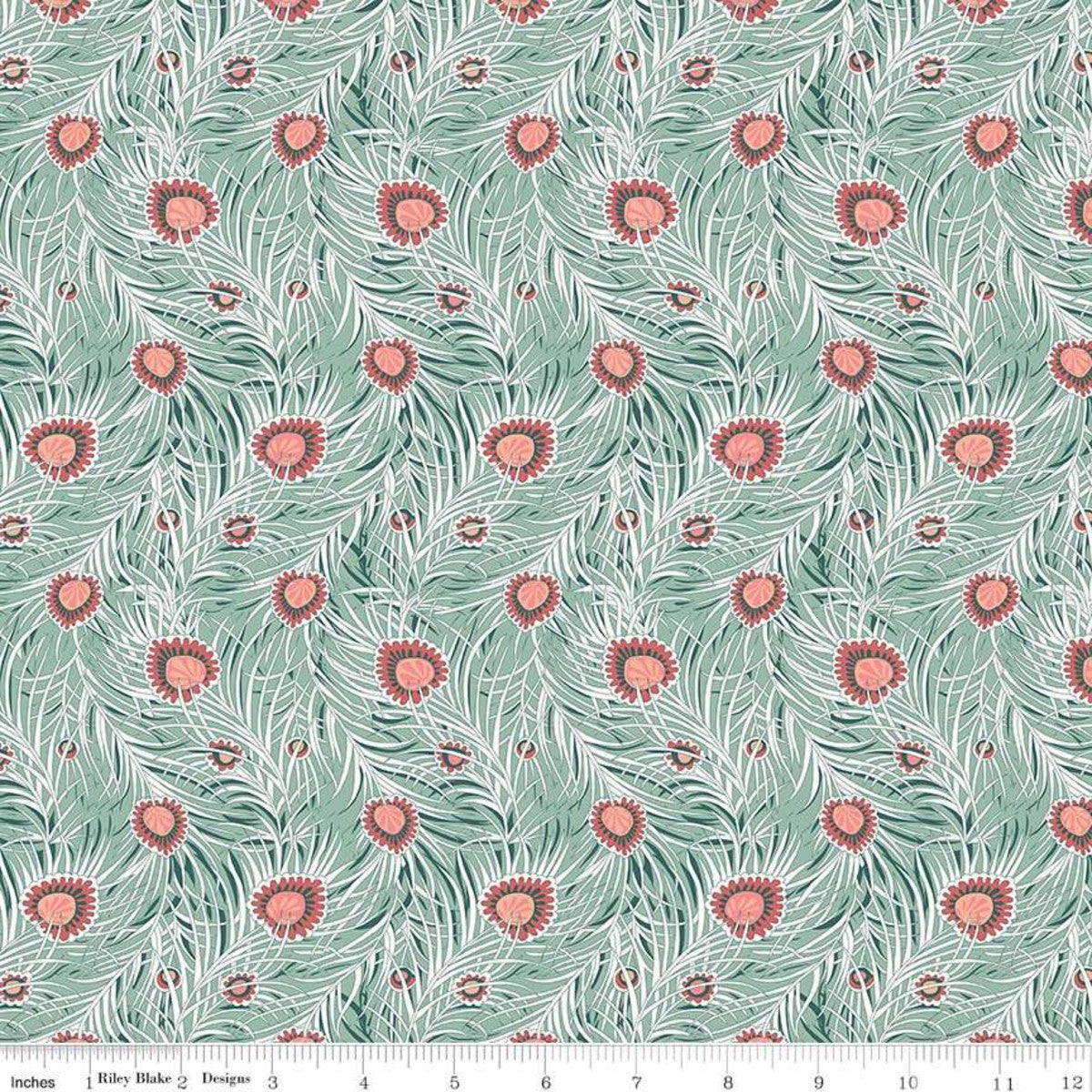 Hesketh House - Piper's Peacock Fabric - Trapunto