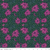Season's Greetings - Poinsettia Fabric - Trapunto