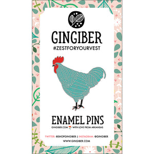 Rooster Enamel Pin Enamel Pin - Trapunto edmonton local fabric store shop