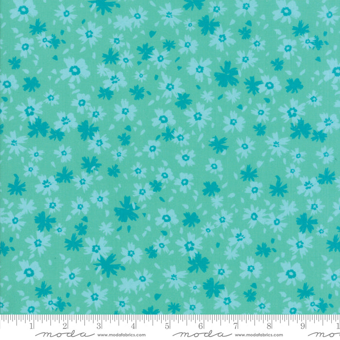 Growing Beautiful - Tonal Blossoms Fabric - Trapunto