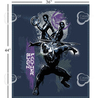 Black Panther Panel Fabric - Trapunto