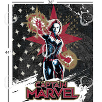 Captain Marvel Panel Fabric - Trapunto