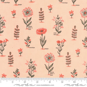 Le Pavot - Flower Names Fabric - Trapunto