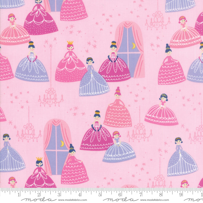 Once Upon a Time - Princesses Fabric - Trapunto
