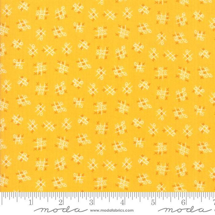 Best Friends Forever - Tic Tac Toe Fabric - Trapunto