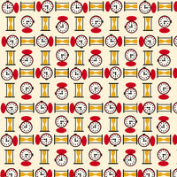 Retro Minis - Clocks Fabric - Trapunto edmonton local fabric store shop