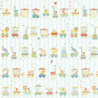 Animal Parade - Stripe Fabric - Trapunto