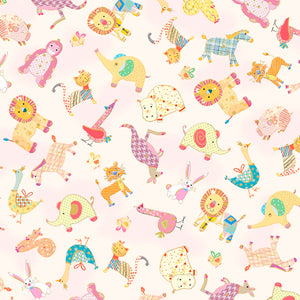 Animal Parade - Baby Animal Toss Fabric - Trapunto
