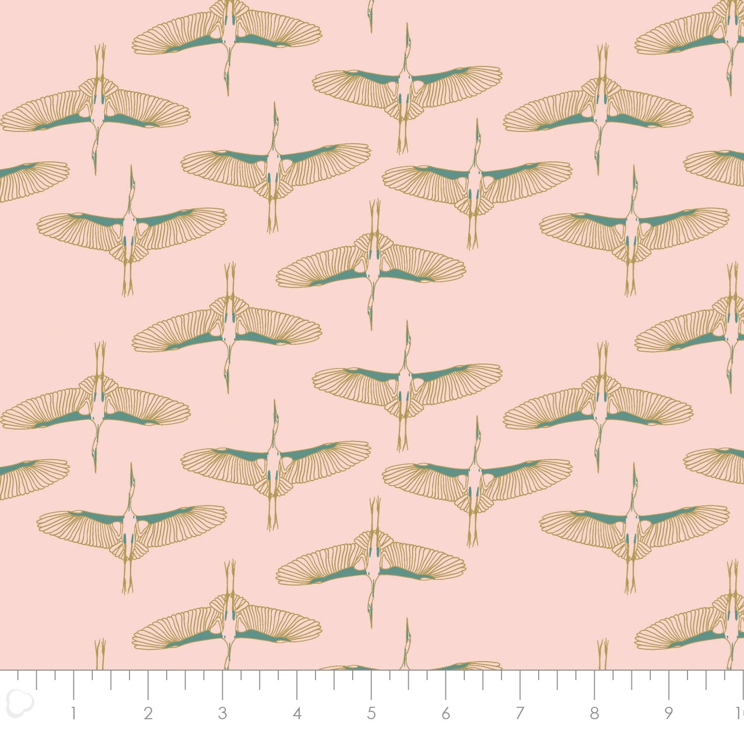 Mystic Cranes - Flying Cranes Fabric - Trapunto