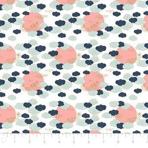 Mystic Cranes - Cloudy Skies Fabric - Trapunto