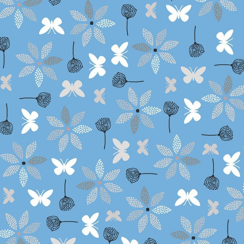 Hollie's Flowers - Butterflies Fabric - Trapunto