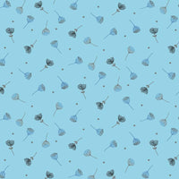 Hollie's Flowers - Flower Toss Fabric - Trapunto