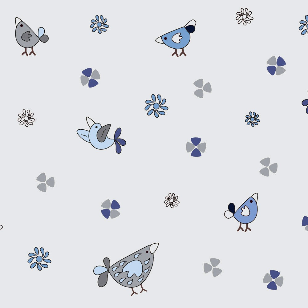 ABC Daires - Birds Fabric - Trapunto