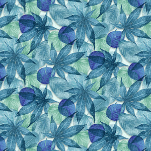 Butterfly Vortex - Leaves Fabric - Trapunto