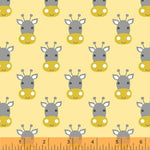 Stand Tall - Giraffe Faces Fabric - Trapunto