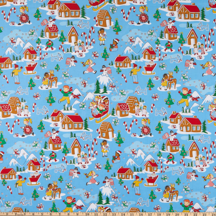 Candy Cane Lane Fabric - Trapunto