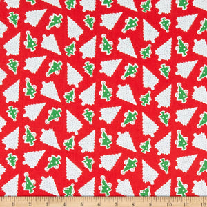 Candy Cane Lane - Oh Christmas Tree Fabric - Trapunto
