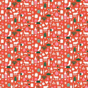 Wintertide - Christmas Cutouts Fabric - Trapunto