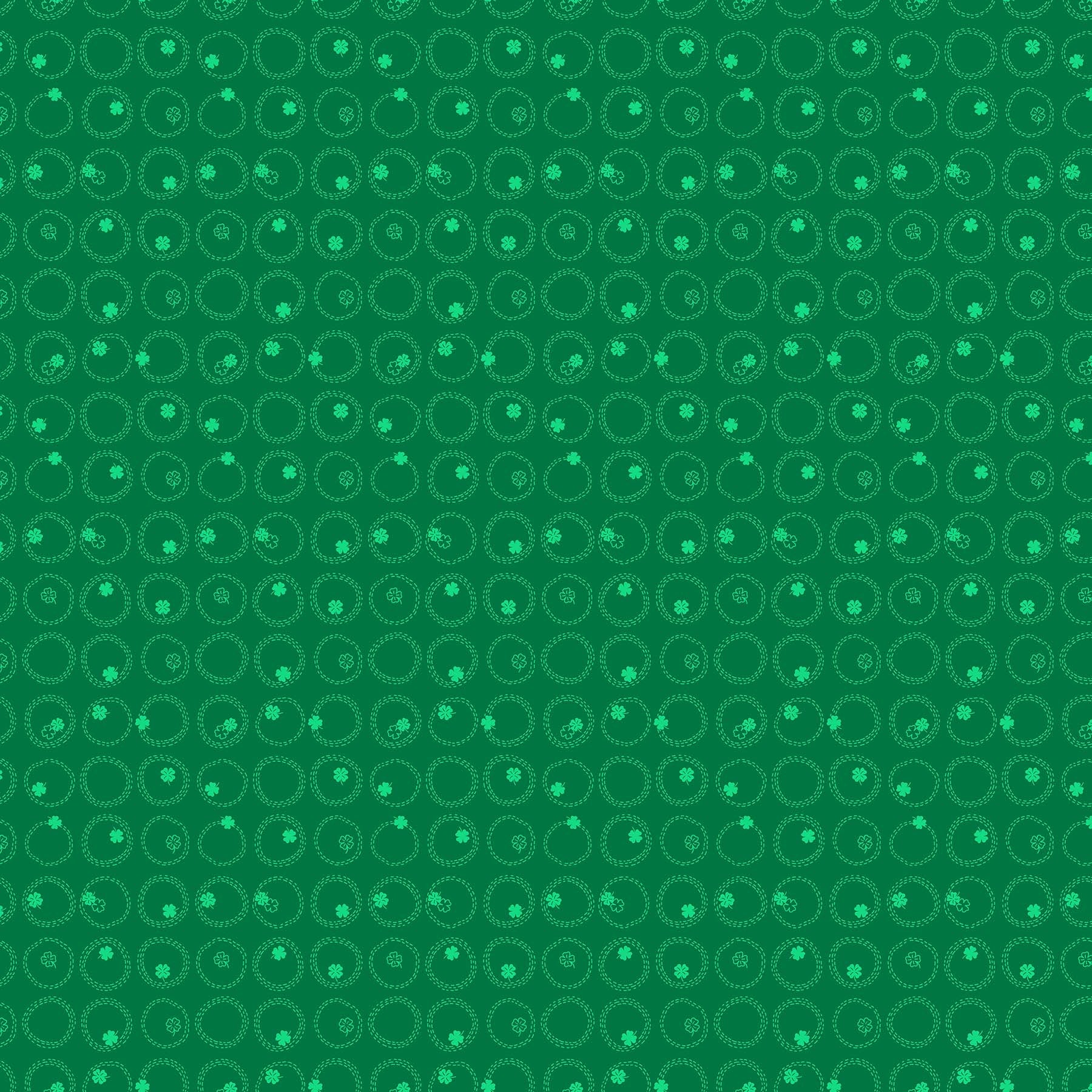 Lucky Charms - Clovers Fabric - Trapunto