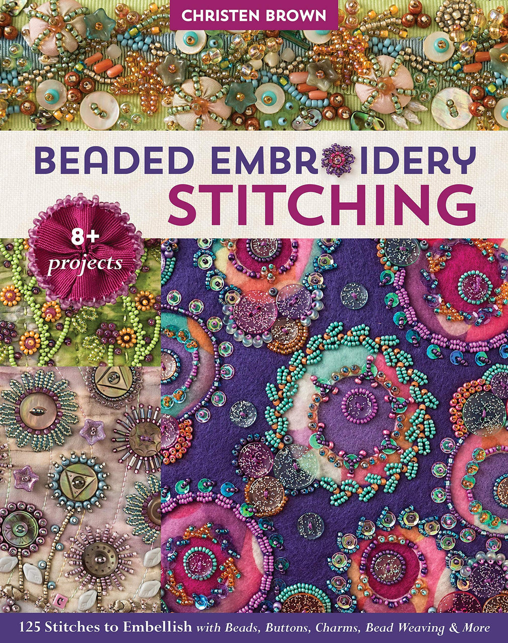 Beaded Embroidery Stitching Book - Trapunto