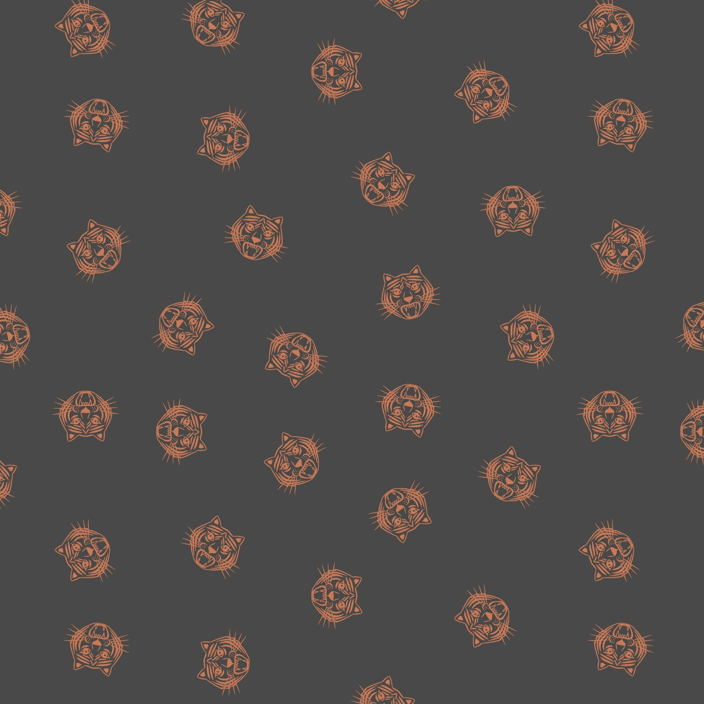 Panthera - Tiger Face Fabric - Trapunto