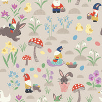 Jolly Spring - Egg Hunt Fabric - Trapunto
