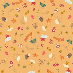 Whatever the Weather - Autumn Fabric - Trapunto