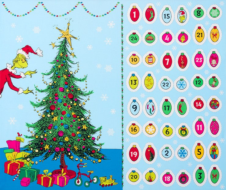 How The Grinch Stole Christmas Fabric - Trapunto