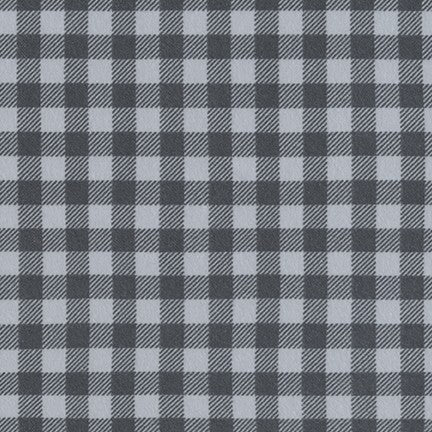 Gingham Flannel Fabric - Trapunto