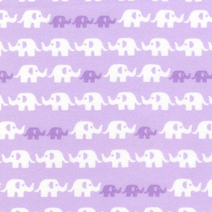 Cozy Cotton Flannel - Elephants Fabric - Trapunto