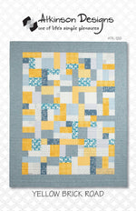 Yellow Brick Road Pattern Quilt Pattern - Trapunto